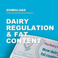 Dairy Regulation Fat Content