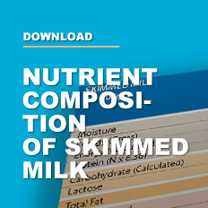 Nutrient composition of skimmed milk