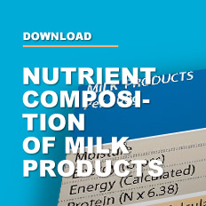 Nutrient composition of milk products