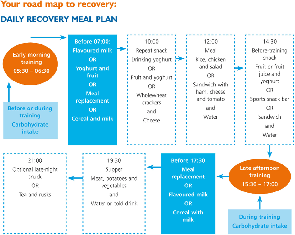Daily recovery meal plan