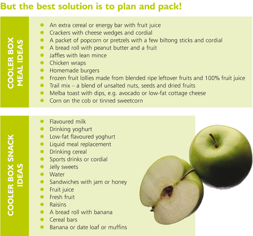 Pack healthy foods