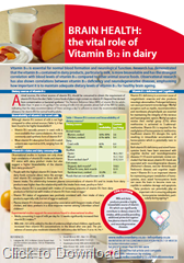 Brain Health and the role of vitamin B12 in dairy
